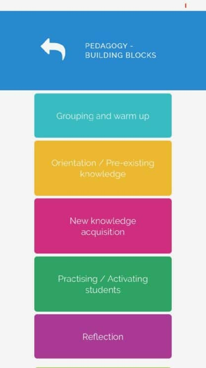 LessonApp a tool to plan lessons