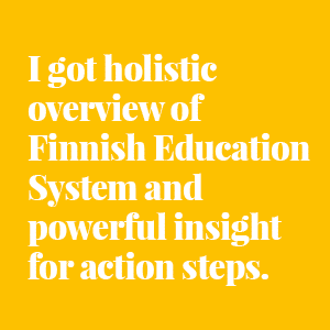 Basic education in Finland, study tour
