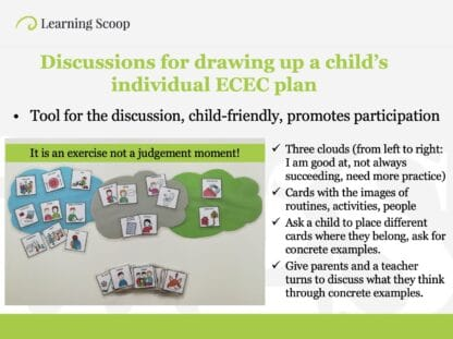 Support in early childhood education online course