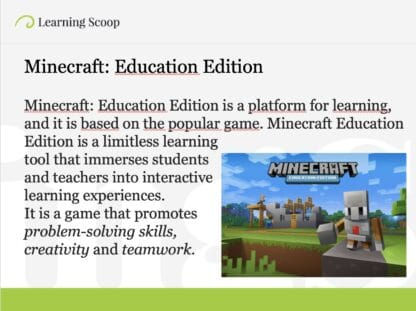 Minecract Education Edition promotes STEAM lessons