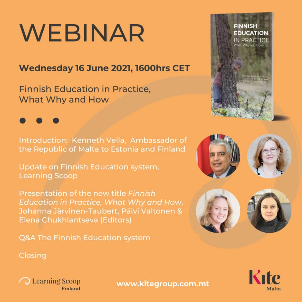 Webinar Pedagogy and Finnish Education in Practice on June 16th 2021