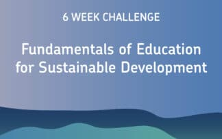 Online course education for sustainable development
